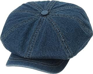 Baker Boy Flat Cap Stitchy Beret Washed Denim Jean Hat DW3834