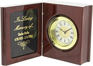 JDS Industries Personalized Engraved Rosewood Table Clock In Loving Memory