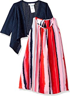 Girls' Two Piece Dress and Cardigan Set