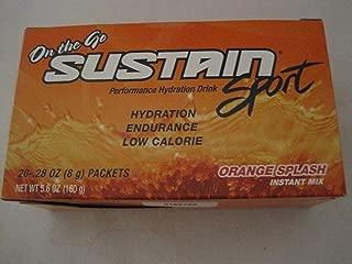 Melaleuca On The Go Sustain Sport Performance Hydration Drink-Orange Splash (20-28 Oz.Packets)