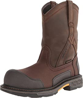 Ariat Men's Overdrive XTR Pull-on H2O Composite Toe Work Boot, Brown Cordura/Oily Distressed Brown, 10.5 2E US