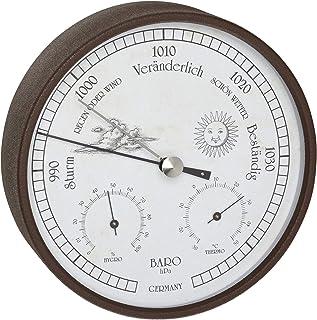 TFA Dostmann Estación meteorológica analógica para interior y exterior, barómetro, higrómetro, termómetro, resistente a la...