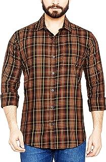 True United Men's Checkered Fullsleeve Casual Shirt