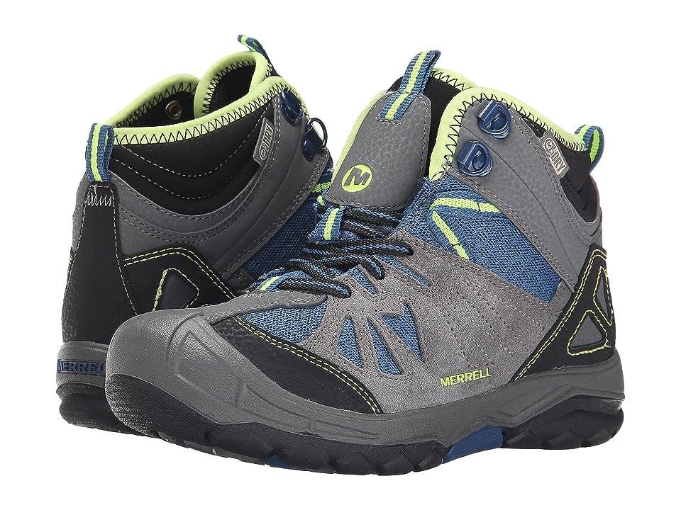 Merrell Kids Capra Mid Waterproof (Toddler/Little Kid) (Grey/Blue) Boys Shoes