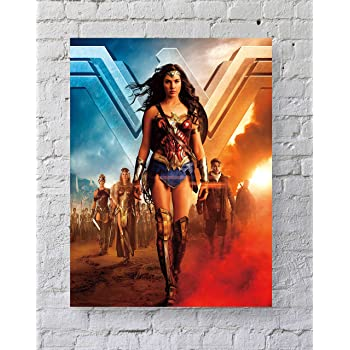 Wonder Woman Gal Gadot 2017 Poster Fabric 8x12 20x30 24x36 E-1729