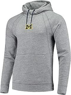 Men's Jordan Michigan Wolverines Wings Fleece Pullover Hoodie Size Large Carbon Heather Grey