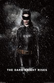 "Trends International DC Comics Movie - The Dark Knight Rises - Catwoman Rain Wall Poster, 14.725"" x 22.375"", Premium Unfra..."