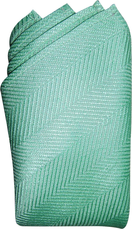 Sea Aqua Herringbone Silk Handkerchief - Full-Sized 16