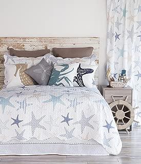 North End Decor Starfish Reef Coastal Quilt, Queen 3-Piece Bedding Sets, 92