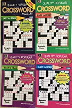 Lot of 4 Quality Popular Crossword Special Easy To Read Crosswords Puzzles Books 2018