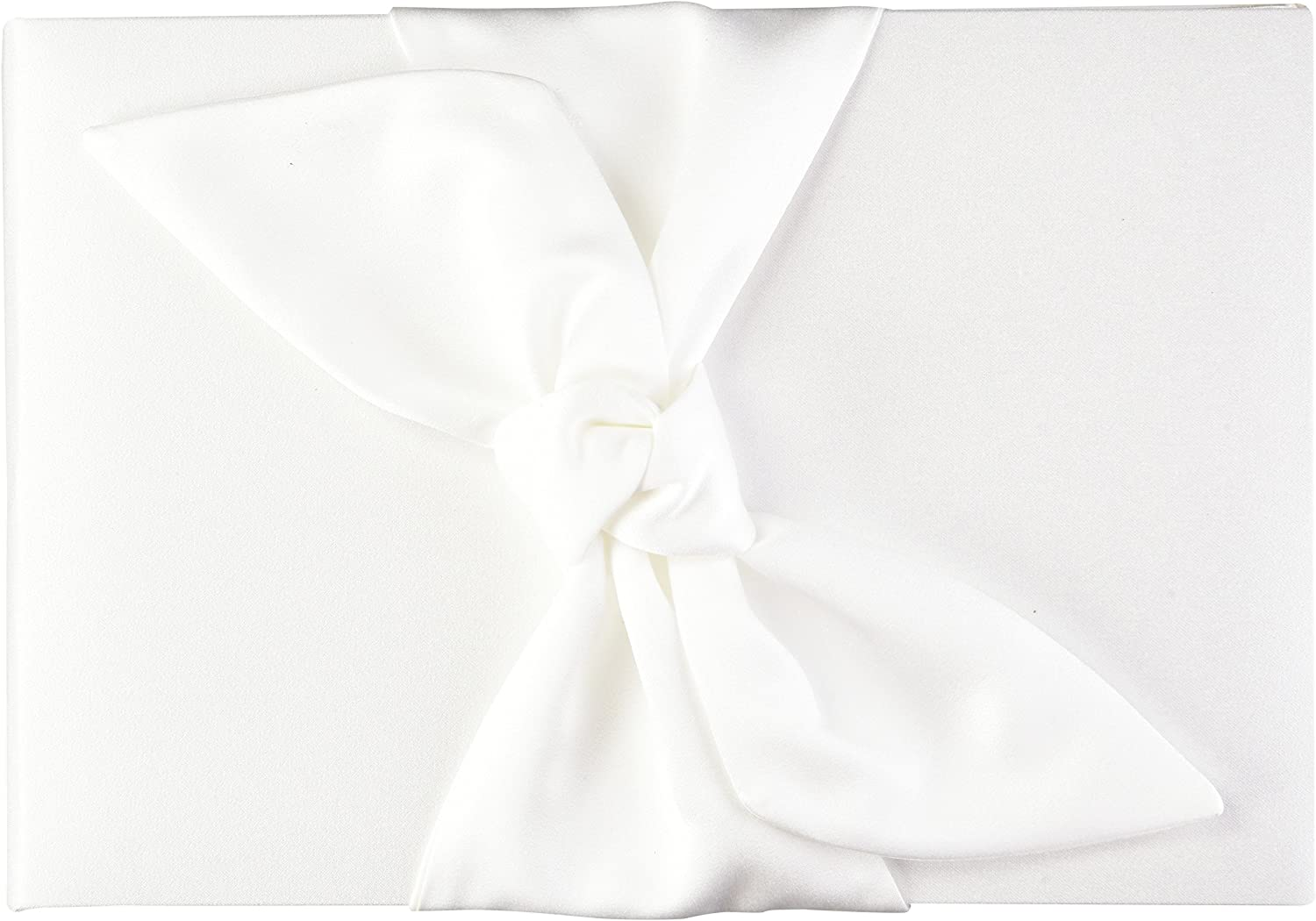 Beverly Clark Tie The Knot Collection Weddingstar Guest Book, White
