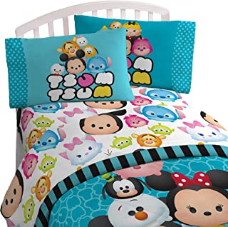 Disney Tsum Tsum Teal 'Stacks' 4 Piece Twin Bed In A Bag