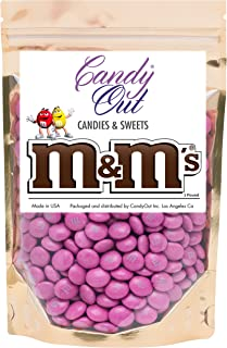 Dark Pink m&m 1 Pound Milk Chocolate in CandyOut Sealed Stand Up Bag