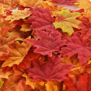 CODE FLORIST 200 Pcs Fall Artificial Maple Leaves for Thanksgiving,Weddings Decorations,Festival Events