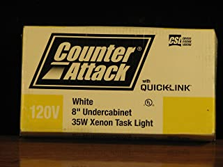 CSL Lighting CAX120L-8WT White Counter Attack 8