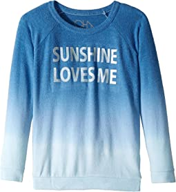Chaser Kids - Love Knit Raglan Sunshine Loves Me Pullover (Little Kids/Big Kids)