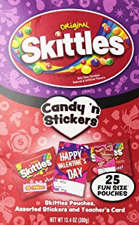 Skittles Candy N Stickers for Valentines Day