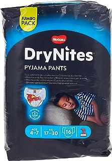 DryNites PYJAMA PANTS, Age 4-7 Y, BOY, 17-30 kg, 16 Bed Wetting Pants