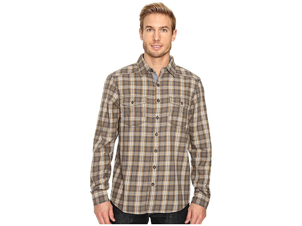Ecoths Dax Long Sleeve Shirt (Deep Lichen Green) Men