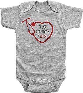 Baffle Relax, My MOM'S A Nurse/Nursing Onesie for Baby Girl or Boy/Infant