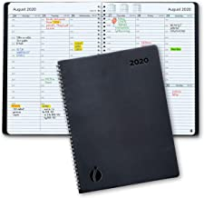 2020 Weekly Planner and Monthly Planner – Hourly Appointment Book 2020 – Softcover, Twin-Wire Binding – Simple Design Inspires Productivity – 8.5 x 11