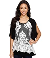 Karen Kane - Split Sleeve Lace Overlay Top