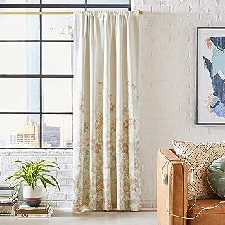Rivet Classic Floral-Print Curtain, 84