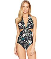 Kate Spade New York - Playa Carmen Knotted Halter One-Piece Swimsuit