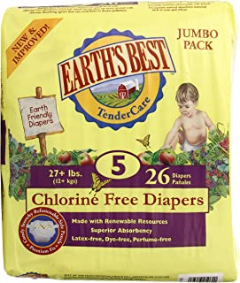 地球*的–tendercare 无氯尿布尺码 Five 27+ 磅–26尿布 ( S ) 净空 priced