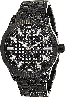 JBW Luxury Men's Crowne 50 Diamonds Interchangable Fluted Bezel Watch - J6363D