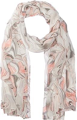 Calvin Klein - Marble Print Chiffon