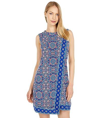 Calvin Klein Sleeveless Patterned Jersey Dress