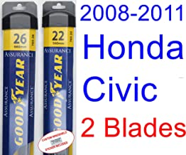 2008-2011 Honda Civic Coupe Replacement Wiper Blade Set/Kit (Set of 2 Blades) (Goodyear Wiper Blades-Assurance) (2009,2010)