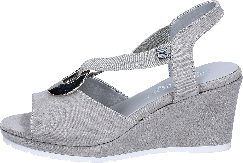 CINZIA SOFT Sandals Womens Suede Grey