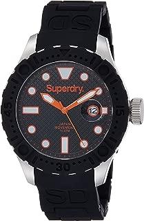 SYG140B Mens Scuba Deep Sea Black Silicone Strap Watch