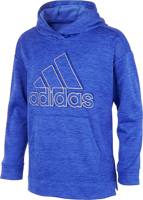 adidas Girls Size Badge of Sport Mélange Fleece Pullover Hoodie, Sonic Ink Heather, XL+ (16 Plus)