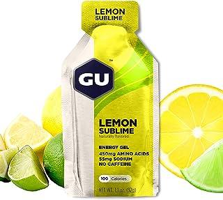 GU Energy Original Sports Nutrition Energy Gel, 24-Count, Lemon Sublime