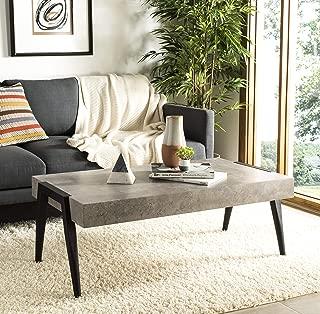 Safavieh Home Collection Cameron Light Grey and Black Rectangular Midcentury Modern Coffee Table