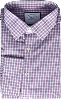Non Iron Classic Fit Mens Dress Shirt with French/Double Cuff