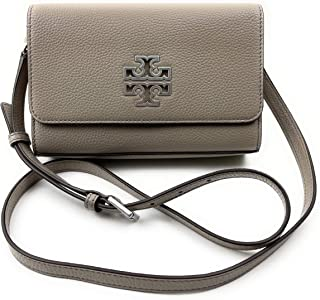 Tory Burch Womens Pebbled Leather Britten Shoulder Bag