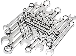 SATA 23-Piece Full-Polish Metric Combination Wrench Set with Offset Box Ends and a Durable Tool Roll - ST09027SJ