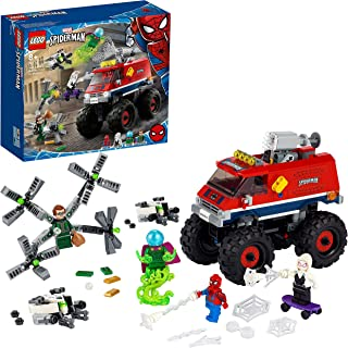 LEGO 76174 Super Heroes Marvel Spider-Man's Monster Truck vs. Mysterio Toy with Doctor Octopus and Spider-Gwen Minifigures
