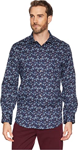 Stretch Multicolor Floral Print Shirt