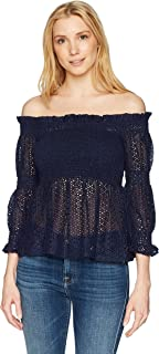 Bardot Women's Aspen Shirred Top Ruffle & Peplum Tops