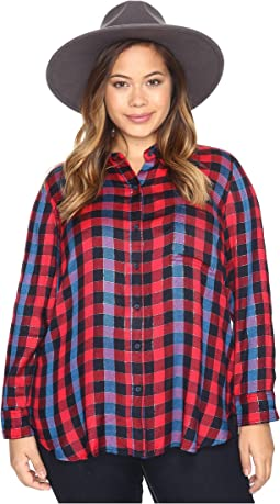 Lucky Brand Plus Size Back Overlay Shirt