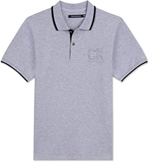 Calvin Klein Boys' Big Embossed Polo Shirt