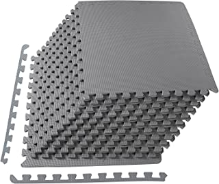 BalanceFrom Puzzle Exercise Mat with EVA Foam Interlocking Tiles for MMA, Exercise,..