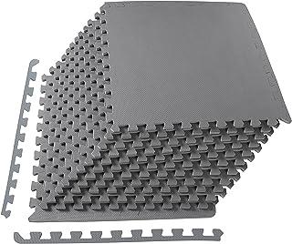 BalanceFrom Puzzle Exercise Mat with EVA Foam Interlocking Tiles, Grey