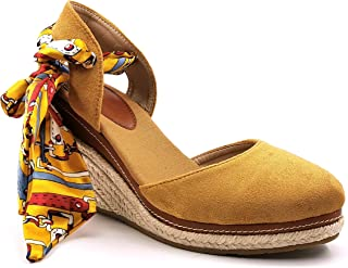 Angkorly - Chaussure Mode Sandale Espadrille Bohème Folk/Ethnique Romantique Femme Corde avec de la Paille Laçage Talon Co...
