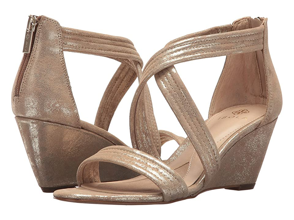 Isola Fia (Platino Distressed Foil Suede) Women